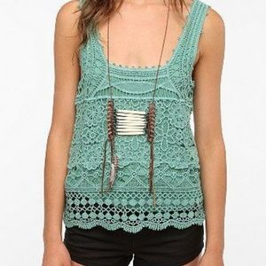 Urban Outfitter Pins and Needles Crochet Tank Top